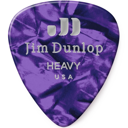 Picks Jim Dunlop 483P-13-HV Celluloid Purple Pearl Heavy (12