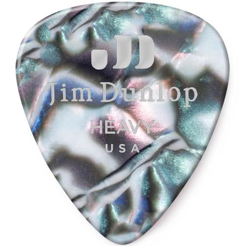 Picks Jim Dunlop 483P-14-HV Celluloid Abalone Heavy (12)