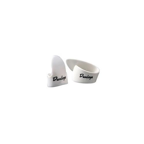 Picks Jim Dunlop 9002P White Thumb Players Pk Med (4)