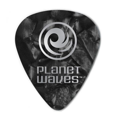 Planet Waves 1CBKP6-10 Black Pearl Celluloid Guitar Picks - 10 pack - Heavy