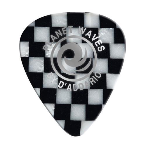 Planet Waves 1CCB4-10 Checkerboard Celluloid Guitar Picks - 10 pack - Medium