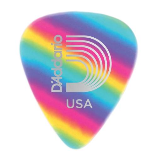 Planet Waves 1CRB2-10 Rainbow Celluloid Guitar Picks - 10 pack - Light