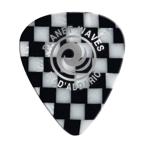 Planet Waves 1CCB2-10 Checkerboard Celluloid Guitar Picks - 10 pack - Light