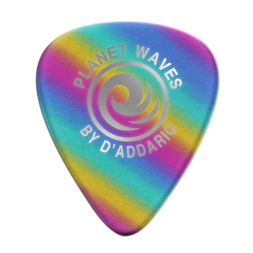 Planet Waves 1CRB6-10 Rainbow Celluloid Guitar Picks - 10 Pack - Heavy