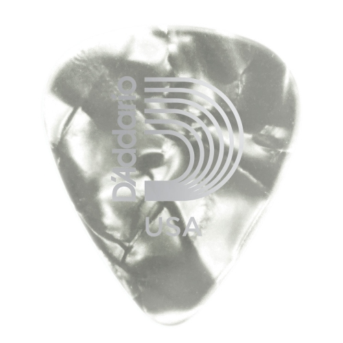 Planet Waves White Pearl Celluloid Guitar Picks - 10 pack - Medium