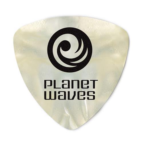 Planet Waves 2CWP4-10 White Pearloid Celluloid Guitar Picks - Medium - 10 Pack