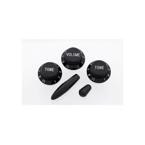 Knob Set for Stratocaster - Black