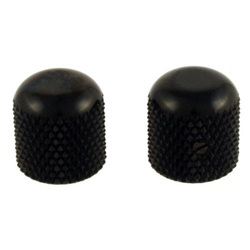 Dome Knobs - Black, Flattened Top
