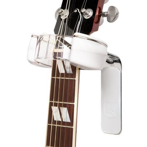 D&A HEADLOCK Active Wall Guitar Hanger - Chrome/White