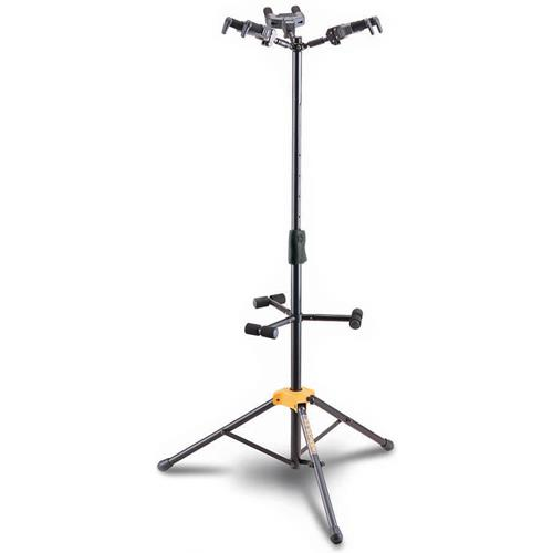 Hercules Auto Grip System Triple Guitar Stand with Fold-able Backrest