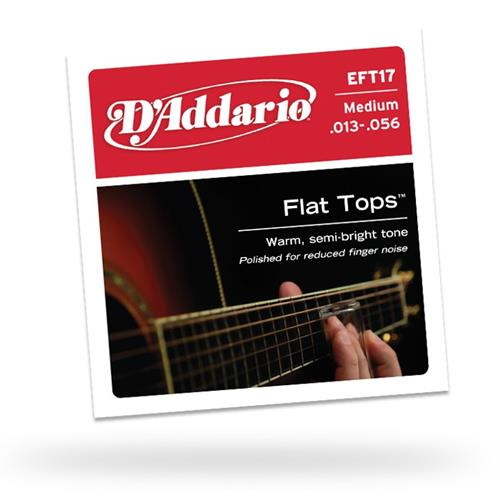 D'Addario EFT17 Flat Tops Acoustic Guitar Strings - Medium 13-56