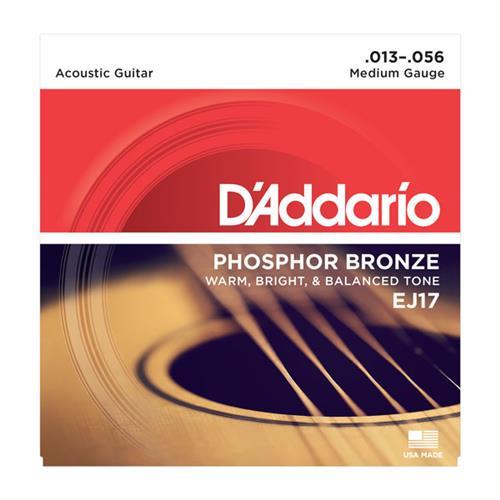 D'Addario EJ17 Phosphor Bronze Acoustic Guitars Strings - Medium 13-56