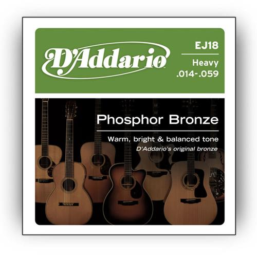Strings Acoustic D'Addario EJ18 Phos Bronze Heavy 14-59