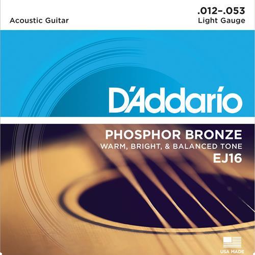 D'Addario EJ15 Phosphor Bronze Acoustic Guitars Strings - Extra Light 10-47