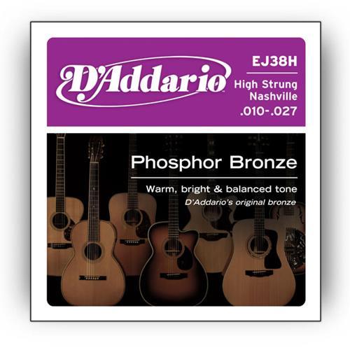Strings Acoustic D'Addario EJ38H High Strung/Nashville Tunin