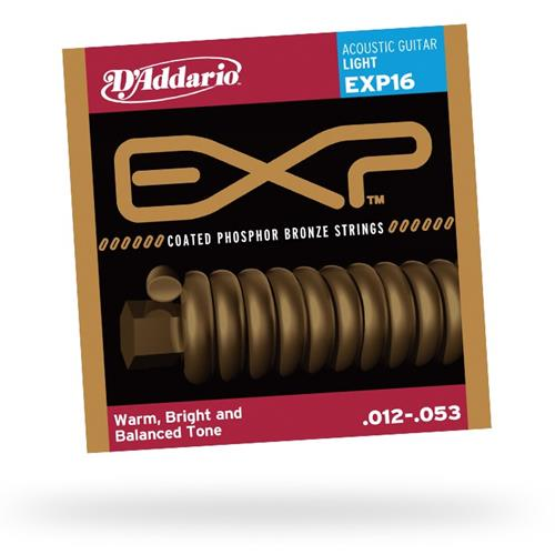D'Addario EXP16 Coated Phosphor Bronze Acoustic Guitar Strings - Light 12-53