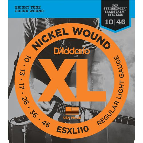 D'Addario ESXL110 Nickel Wound Double Ball-End Electric Guitar Strings Calibrated for Steinberger - Regular Light 10-46