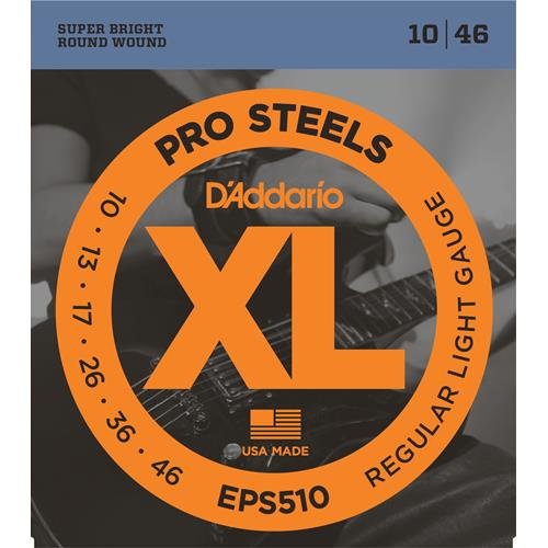D'Addario EPS510 ProSteels Electric Guitar Strings - Regular Light 10-46