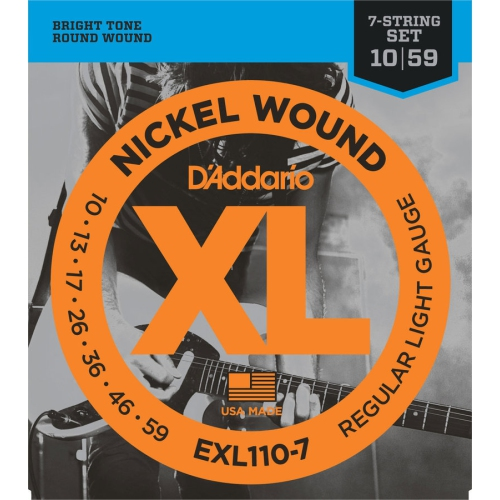 D Addario Exl110 7 Nickel Wound 7 String Electric Guitar Strings Regular Light 10 59 Best Buy Canada