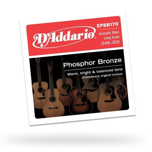 D'Addario EPBB170 Phosphor Bronze Acoustic Bass Guitar Strings - Long Scale 45-100