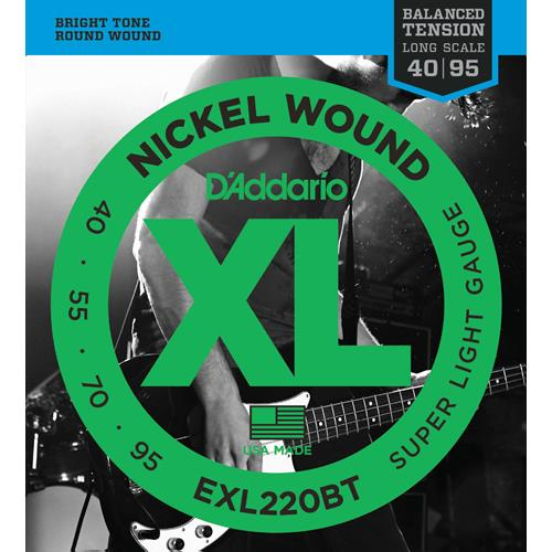 Strings Bass D'Addario EXL220BT Bal Ten 40-95