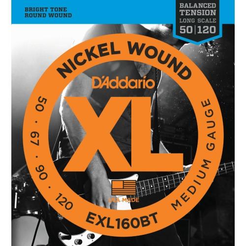 Strings Bass D'Addario EXL160BT Bal Ten 50-120
