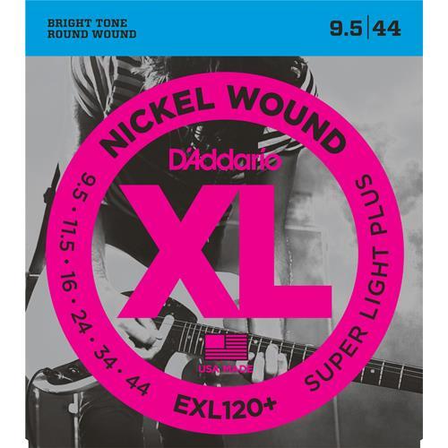 D'Addario EXL120+ Nickel Wound Electric Guitar Strings - Super Light Plus 9.5-44