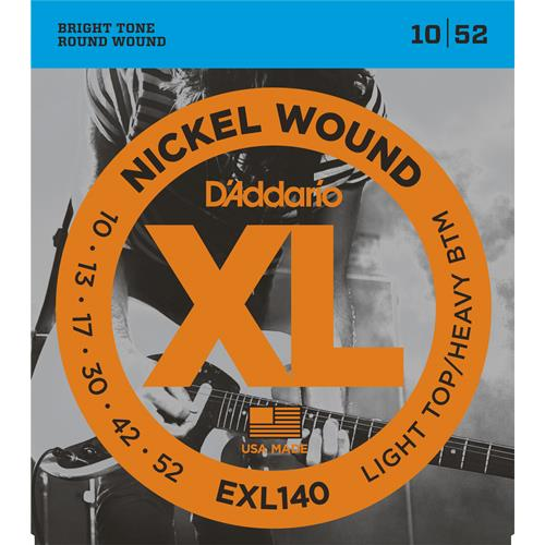 D'Addario EXL140 Nickel Wound Electric Guitar Strings - Light Top /Heavy Bottom 10-52