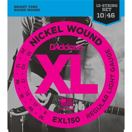 D'Addario EXL150 Nickel Wound 12-String Electric Guitar Strings - Regular Light 10-46