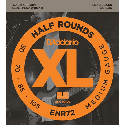 D'Addario ENR72 Half Rounds Bass Guitar Strings - Medium 50-105, Long Scale