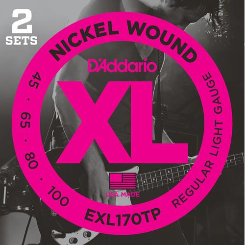 Strings Bass D'addario EXL-170TP 45-100 Long Scale Twin Pack