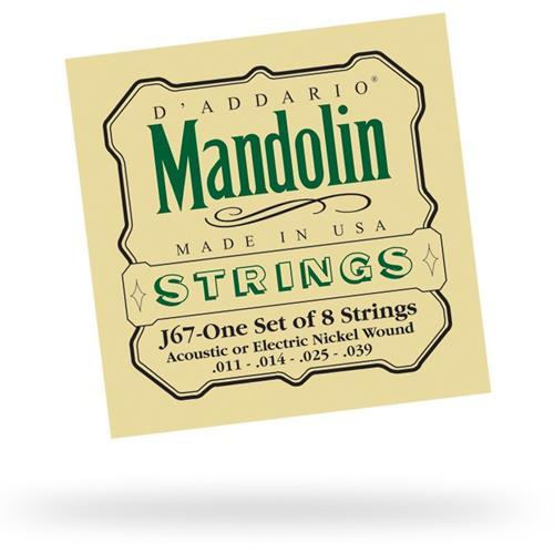 D'Addario J67 Nickel Wound Mandolin Strings - Medium 11-39