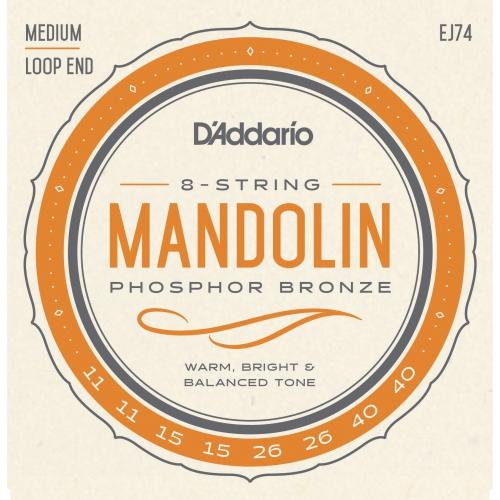 D'Addario J74 Phosphor Bronze Mandolin Strings - Medium 11-40