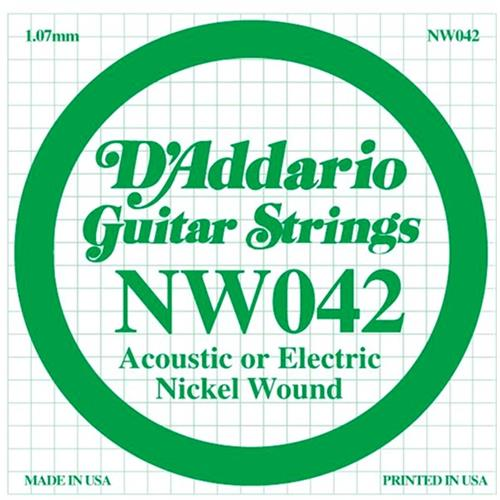 D'Addario Single XL Nickel Wound 054 Guitar String