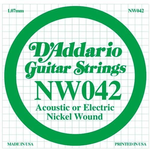 D'Addario Single XL Nickel Wound 042 Guitar String