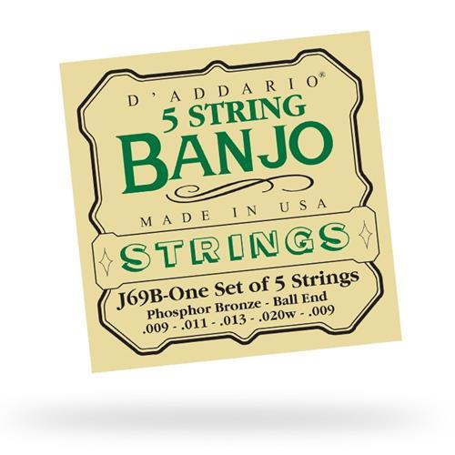 D'Addario J69 5-String Ball-End Banjo Strings - Light 9-20