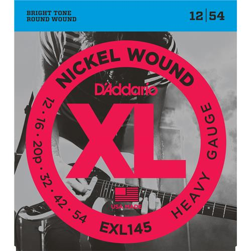 D'Addario EXL145 Nickel Wound Electric Guitar Strings - Heavy 12-54