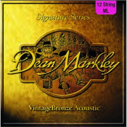 Dean Markley DM2204 VintageBronze 12-String Acoustic Guitar Strings - Medium Light 11-50