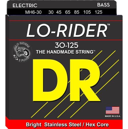 DR Strings MH6-30 Lo-Rider 6-String Bass Strings - Medium, 30-125