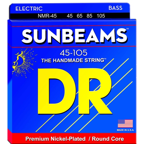 DR Strings NMR-45 Sunbeam Bass Strings - Medium, 45-105