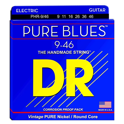 DR Strings PHR-9/46 Pure Blues Electric Strings - Lite-n-Heavy, 9/46