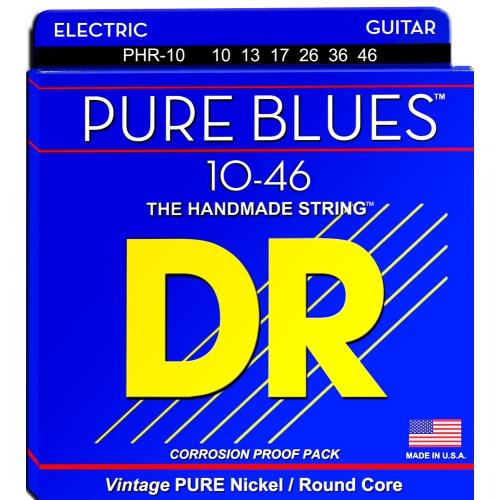 DR Strings PHR-10 Pure Blues Electric Strings - Medium, 10-46