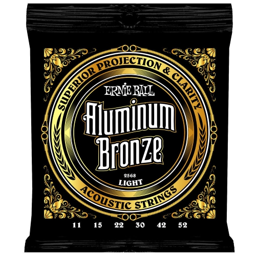 Ernie Ball P02568 Aluminum Bronze Acoustic Guitar Strings - Light
