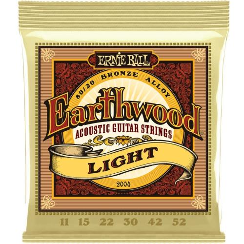 Ernie Ball PO2004 Earthwood 80/20 Bronze Acoustic Guitar Strings - Light