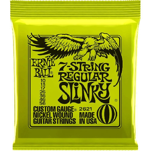 Ernie Ball 7 String Regular Slinky Nickel Wound Electric Guitar Strings 10 56 Gauge Best Buy Canada