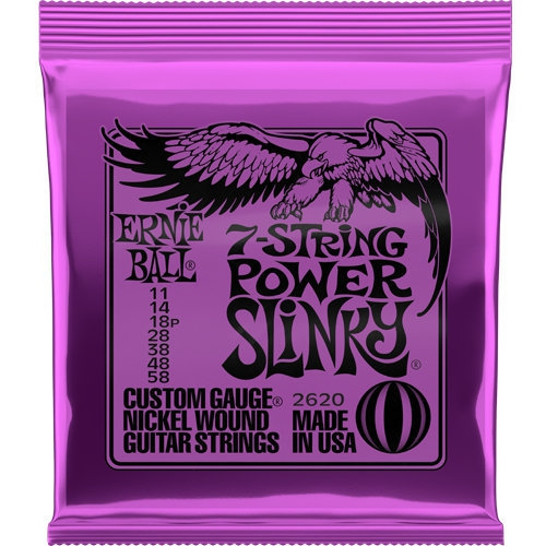 Ernie Ball 7 String Power Slinky Nickel Wound Electric Guitar Strings 11 58 Gauge Best Buy Canada