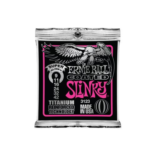 Ernie Ball PO3123 Super Slinky RPS Coated Titanium Electric Guitar Strings