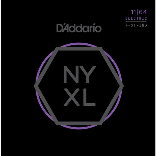 D'Addario NYXL1164 Nickel Wound 7 String Electric Guitar Strings - Medium - 11-64