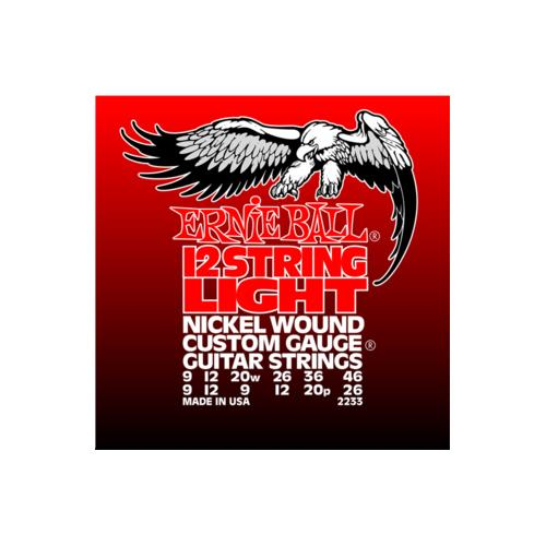 Ernie Ball PO2233 12-String Nickel Wound Electric Guitar Strings - Light