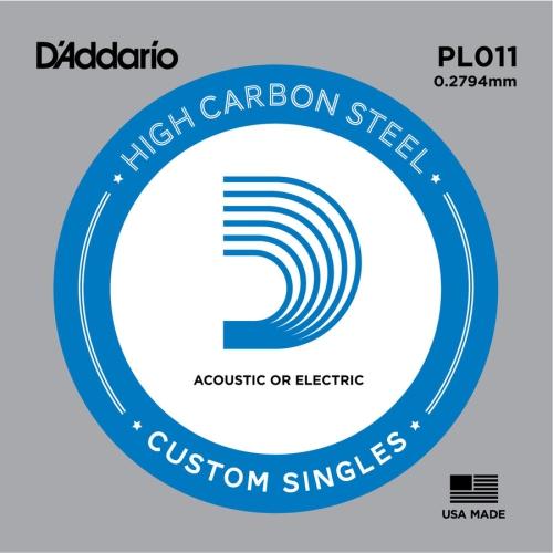 D'Addario PL011 Bulk Plain Steel Guitar Single String - .011 Gauge